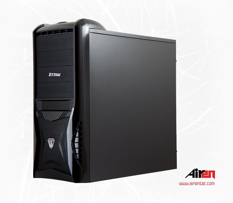 AIREN GameComp 1 (skříň pro hráče, USB 2.0, HD aud