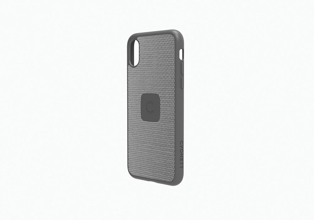 CYGNETT iPhone X Slim Case with Carbon Fibre in Silver