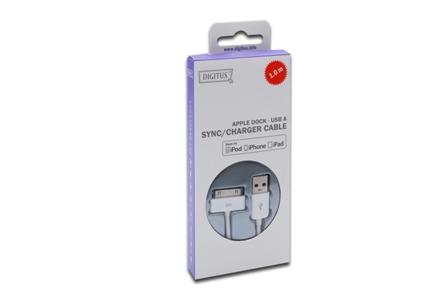 Ednet Apple připojovací a nabíjecí kabel pro Ipod, Iphone, Ipad 1m