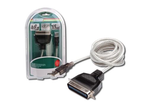 Digitus Printer Cable, USB to IEEE 1284 ( Serial, Centronix 36-pin) kabel 1,8m