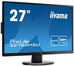 Iiyama LCD X2783HSU 27'' LED, AMVA+, 4ms, VGA/DVI/HDMI, USB, repro, 1920x1080, č