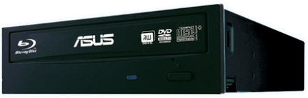 ASUS BLU-RAY Writer BW-16D1HT/BLK/G, black, SATA, retail + Cyberlink Power2Go 8