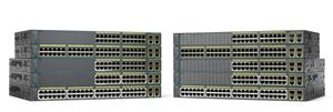 Cisco WS-C2960+48PST-S, 48xFE PoE, 2x1000BT, 2xSFP