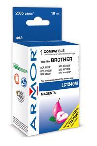 ARMOR cartridge pro BROTHER DCP-J525W, J725DW, MFC J430W, J6510DW, J6710DW, Magenta (LC1240C/1280C) 18 ml