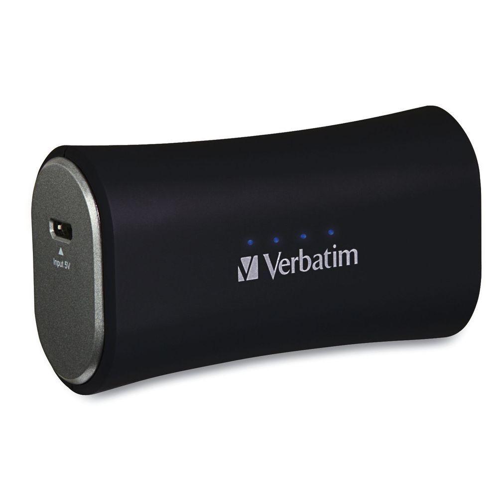 VERBATIM Přenosný ultratenký napájecí zdroj 1x USB / 2200 mAh Power Packs