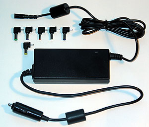 Auto Adaptér k notebooku univ., Sunny 60W 6 konc.