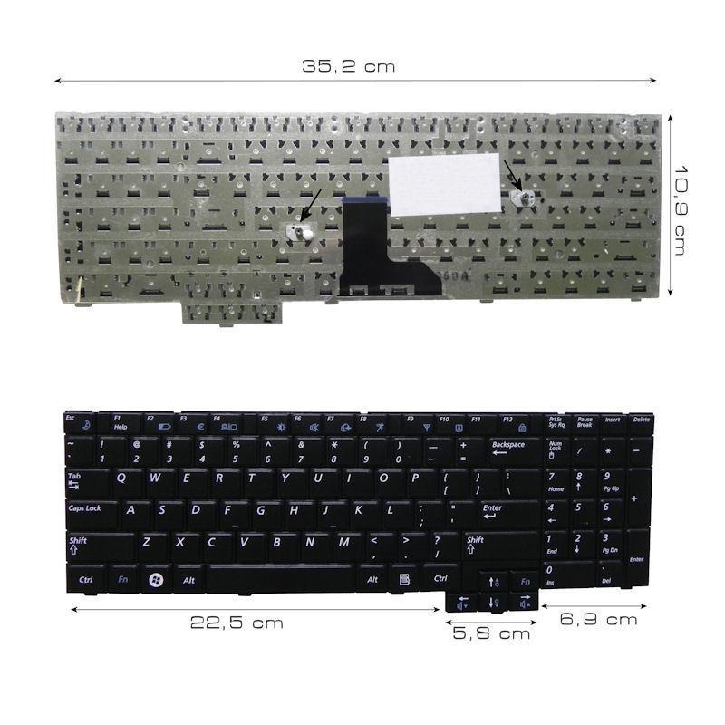 Qoltec Klávesnice pro notebook Samsung R525 R530 R540 R620