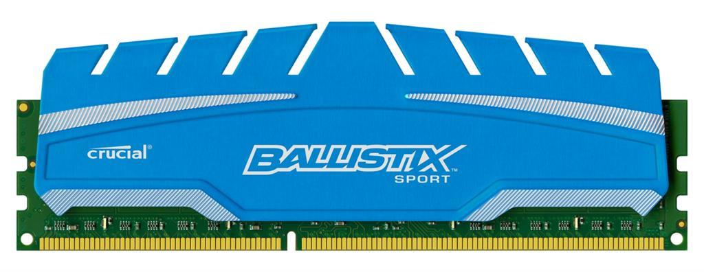 16GB kit DDR3 - 1600 MHz Crucial Ballistix Sport XT CL9 UDIMM 1.5V, 2x8GB