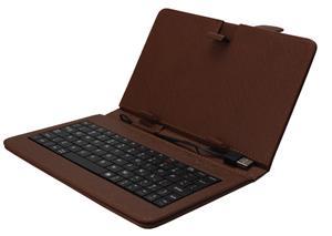 """iGET F10BR Pouzdro 10"""" s klávesnicí - hnědá"""