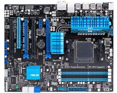 ASUS M5A99FX PRO R2.0, AM3+, AMD990FX, 4xDDR3, PCIe 2.0 x16, GLan, 8CH, USB 3.0, ATX