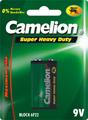 Camelion baterie 9V, Zinc Chloride, blister 1 ks