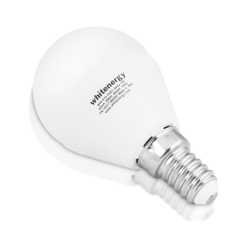 Whitenergy LED žárovka   10xSMD2835  B45   E14   5W   230V  studená bílá  mléko