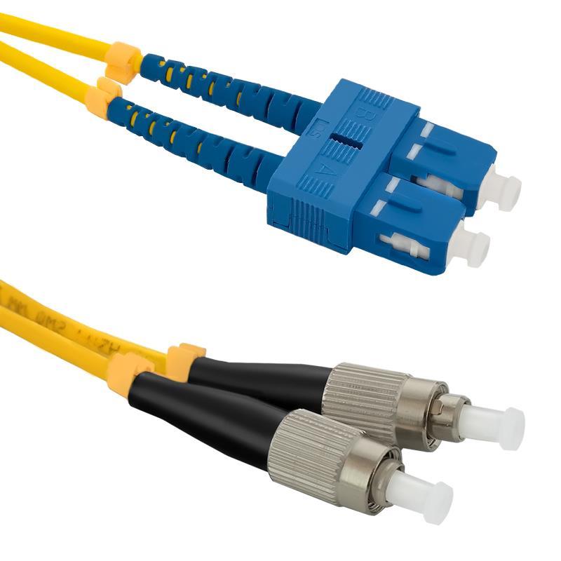Qoltec Optic Patchcord SC/UPC-FC/UPC | Singlemode | 9/125 | G652D | Duplex | 2m