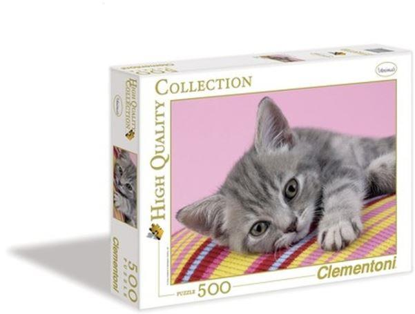 CLEMENTONI Puzzle 500 el. HQ Grey Kitten