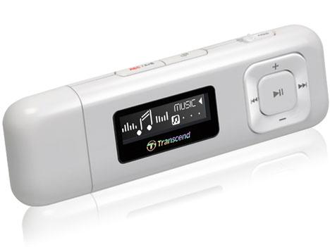 Transcend 8GB Flash MP3 Přehrávač T-Sonic 330 bílý