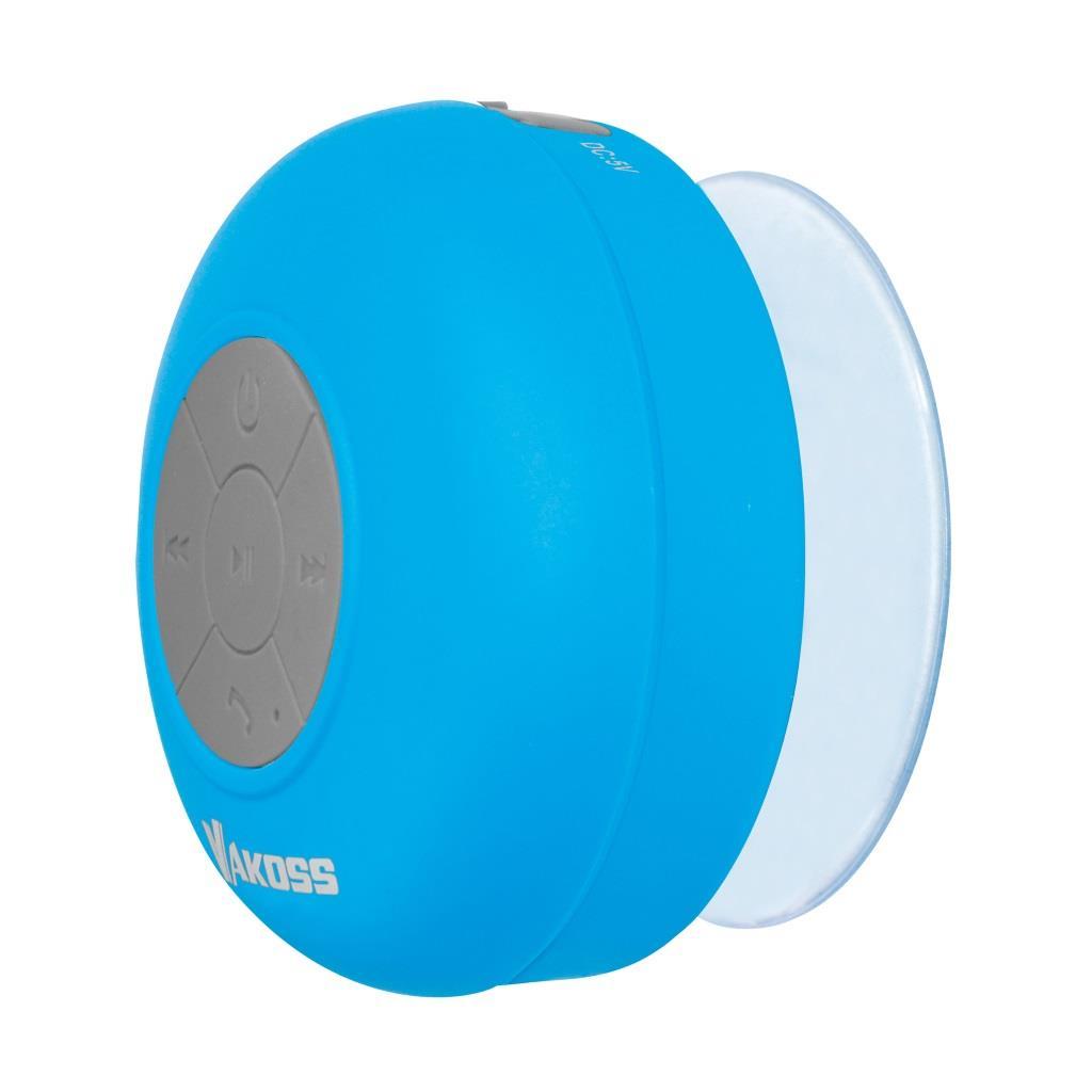 VAKOSS bezdrátový Bluetooth reproduktor s přísavkou SP-B1806B modrý