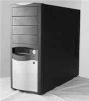 EUROCASE skříň ML5410 black/silver (2xUSB, 2xAU) bez zdroje