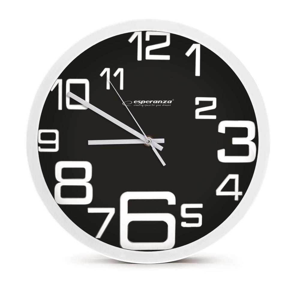 Esperanza EHC017K MILAN nástěnné hodiny, černé