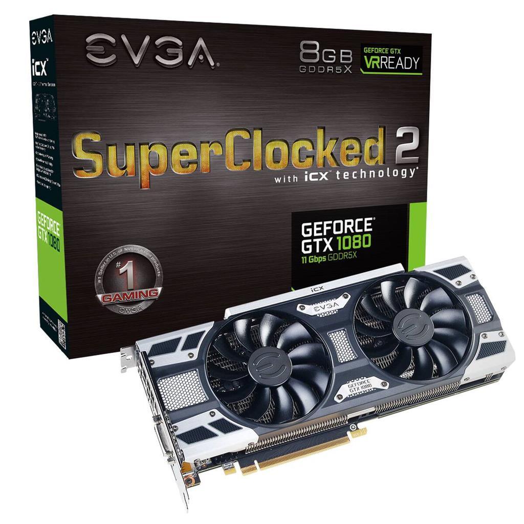 EVGA GeForce GTX 1080 SC2 GAMING, 8GB GDDR5X, iCX - 9 Thermal Sensors & LED