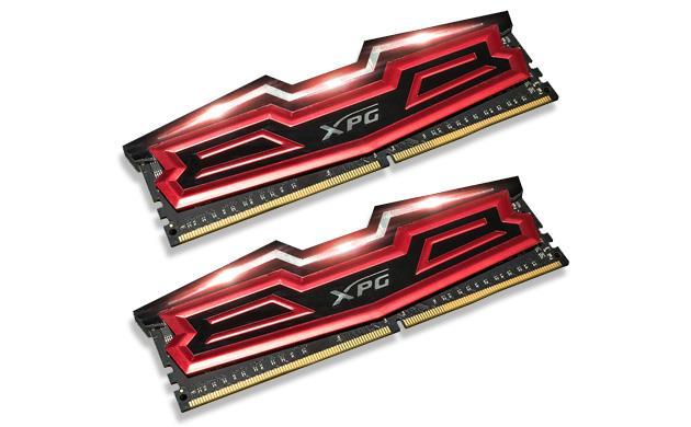 DIMM DDR4 16GB 2400MHz CL16 (KIT 2x8GB) ADATA XPG Dazzle, Red/Black