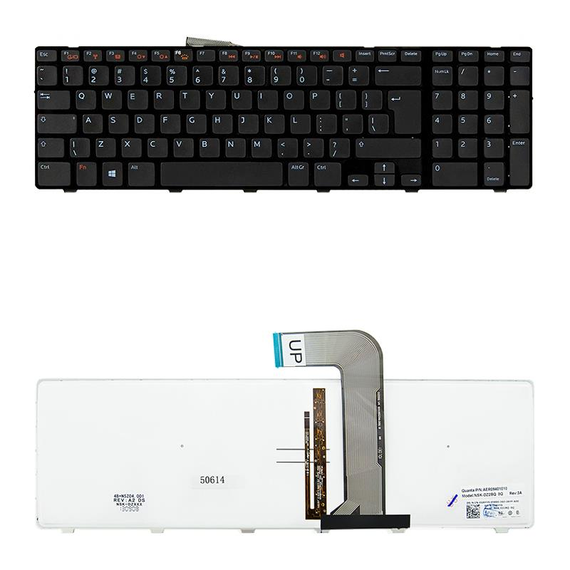 Qoltec Notebook Keyboard for Dell 17R, N7110,5720