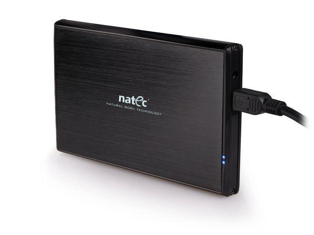 Natec RHINO Externí box pro 2.5'' SATA HDD/SSD, USB 3.0, hliníkový, černý