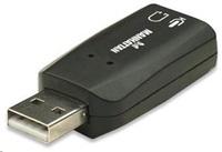 Manhattan zvuková karta Hi-Speed USB 3-D