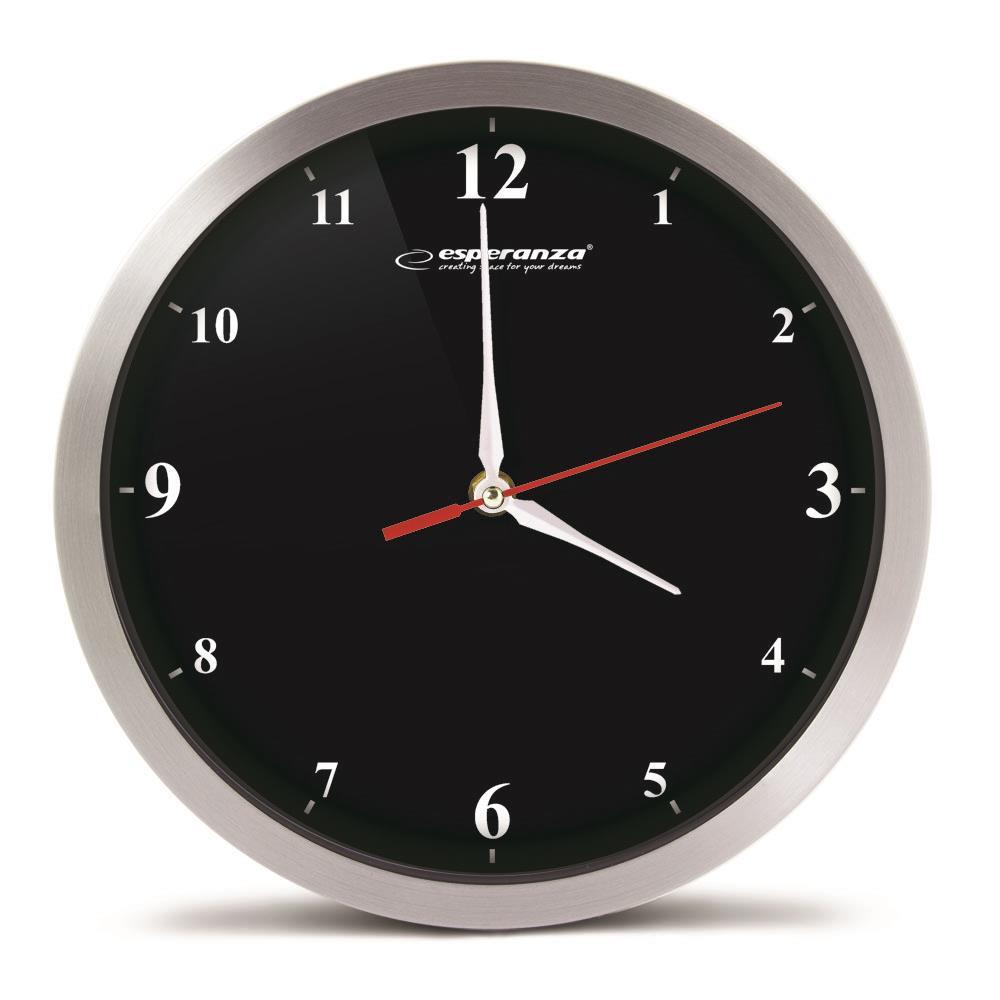 Esperanza EHC009K DETROIT nástěnné hodiny, černé