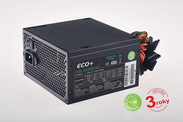 Zdroj ECO+80 500W, aktivní PFC, ErP2013, 85+, bulk