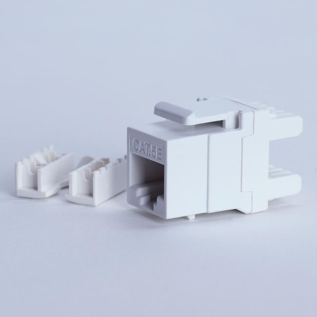 Digitalbox START.LAN Keystone Jack UTP cat. 5e (1xRJ-45) 8P8C 180°, bílý