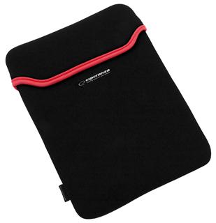 Esperanza ET173R Pouzdro pro tablet 10.1'' (16:9), 3mm neoprén, černo-červené
