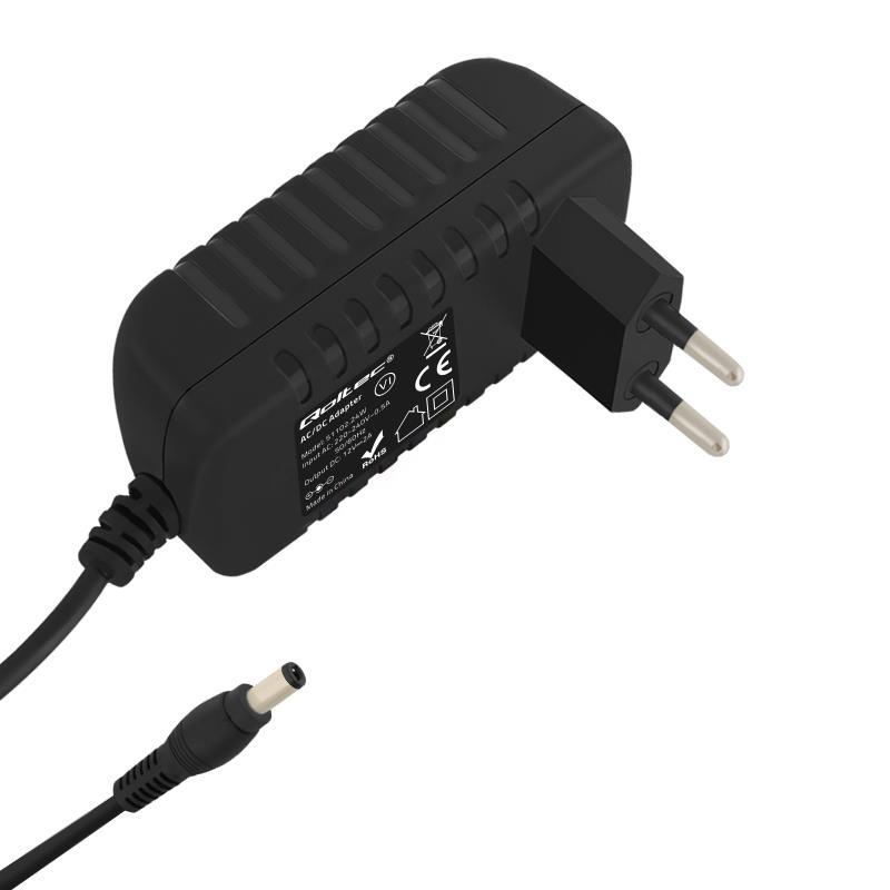 Qoltec Universal AC adapter 24W | 12V | 2A | 5.5*2.5