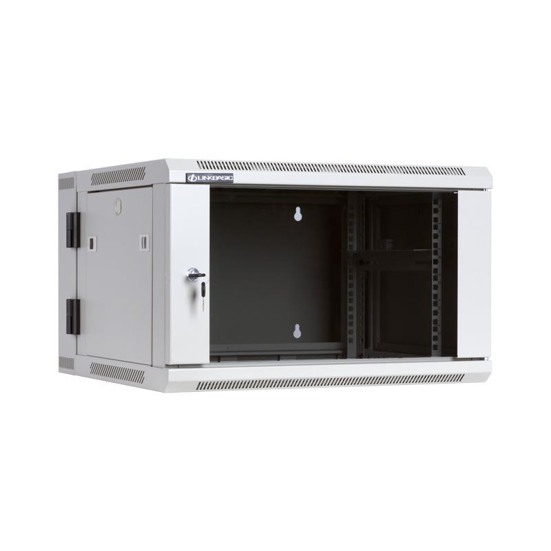 Linkbasic závěsná skříně dvě části 19'' 6U 600x550mm - šedá