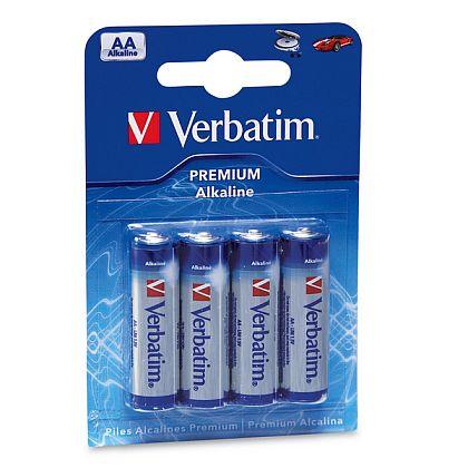 VERBATIM Alkalické baterie AA, 4 PACK , LR6