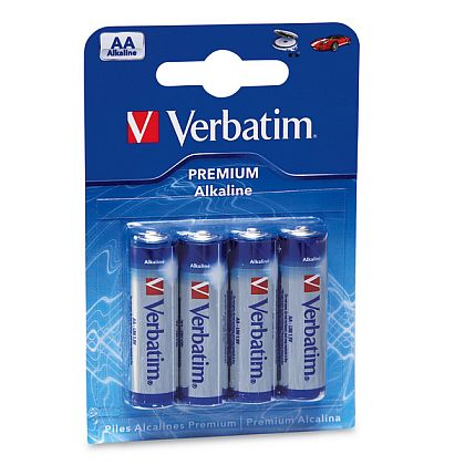 VERBATIM alkalické tužkové baterie R06, AA, 1,5V, 4ks