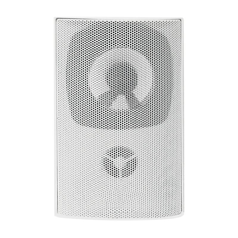 Qoltec SUPER BASS TWO WAY WALL SPEAKER| RMS 10W | 15cm | 8 Om | TRAFO | white