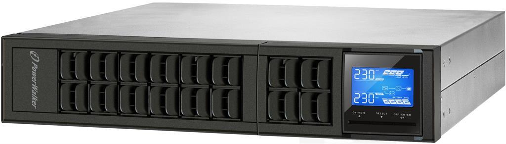 Power Walker UPS On-Line 1000VA, 19'' 2U, 3x IEC, USB/RS-232, LCD, Rack/Tower