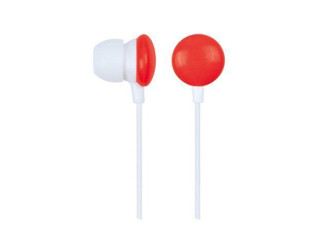Gembird Stereo MP3 sluchátka do uší, červené