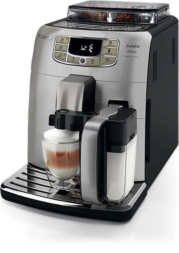 Saeco HD8906/01 Intelia Deluxe automatický espresovač, černo-stříbrný