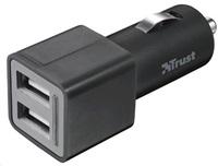 TRUST USB nabíječka do auta 2x12W (2x 5V/2,1A)
