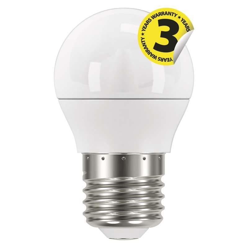 Emos LED žárovka MINI GLOBE, 6W/40W E27, CW studená bílá, 470 lm, Classisc A+