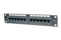"10"" Patch panel LYNX 12port Cat6, UTP, černý"