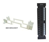Vertikál.patch panel LYNX 12port Cat5E, UTP, černý