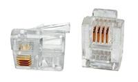 Konektor RJ11-6p4c-plochý kabel, licna, 100ks