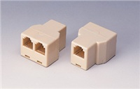 Dvojspojka RJ45 - 1xF8p8c/2xF8p8c - telefonní