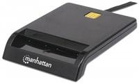 MANHATTAN Čtečka karet Smart Card, externí, černá
