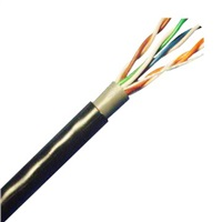 UTP kabel LYNX, Cat5E, venkovní PE+PE, dvojitý plášť, 305m cívka, černý