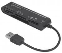 MANHATTAN Čtečka paměťových karet, Slim, 79 v 1, USB 3.0, černá, externí
