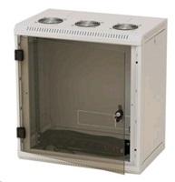 Nástěnný rack RUA 15U/400mm odn.boč+skl.dv.