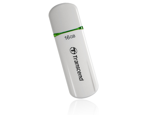 TRANSCEND USB Flash Disk JetFlash®620, 16GB, USB 2.0, White/Green (SecureDrive) (R/W 32/16 MB/s)